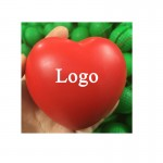 Heart-ShapeD PU Stress Ball Logo Branded