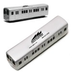 Silver Metro Train Stress Reliever Custom Printed