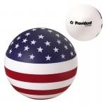 USA Patriotic Round Ball Stress Reliever Custom Printed