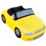 Yellow Convertible Car Stress Reliever Custom Printed