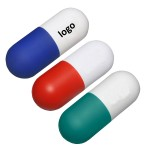 Logo Branded PU Foam Pill Stress Reliever
