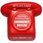 Logo Branded Red Phone Stress Reliever