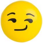 Custom Imprinted Emoji Smirk Squeezies Stress Reliever