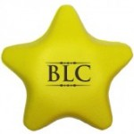 Logo Branded Yellow Star Stress Reliever