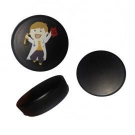 Custom Imprinted PU Foam Hockey Puck Stress Reliever