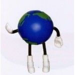 Custom Imprinted Earth Ball Figure Series Stress Reliever