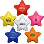 """3"""" Star Shape Stress Ball Logo Branded"""