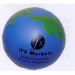 Custom Imprinted Sport Series Land Water Earth Ball Stress Reliever