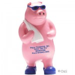Logo Branded Shower Pig Stress Reliever