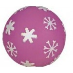 Rubber Snowflake Ball Dog Toy© Logo Branded