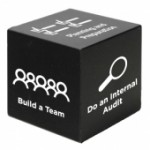 Black Cube Stress Reliever Toy Logo Branded