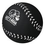 Custom Imprinted Black Baseball Stress Reliever