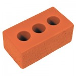 Custom Printed Red Brick Squeezies Stress Reliever