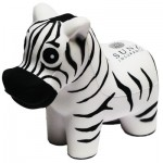 Black & White Zebra Stress Reliever Custom Printed