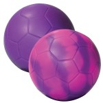 "Purple Color Changing ""Mood"" Soccer Ball Squeezies Stress Reliever Custom Printed"