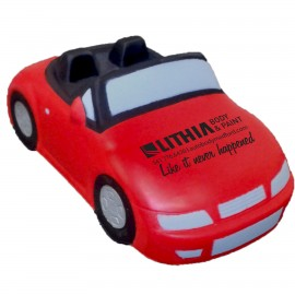Red Convertible Car Stress Reliever Custom Imprinted