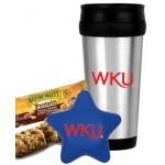 Star Stress Ball w/Travel Mug Set Logo Branded