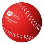 Red Baseball Stress Reliever Custom Imprinted