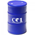 Blue Oil Drum Stress Reliever Custom Printed