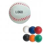 Logo Branded PU Baseball Hand Wrist Exercise Stress Foam Ball
