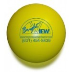 Custom Imprinted Solid Colored Yellow Stress Ball