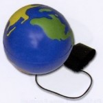 Logo Branded Earth Ball Yoyo Yoyo Series Stress Reliever Blue/ Green/ Yellow