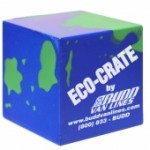 Logo Branded Earth Cube Stress Reliever Toy