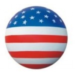 Custom Imprinted Sport Series US Flag Stress Reliever Ball