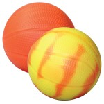 """Orange Color Changing """"Mood"""" Basketball Squeezies Stress Reliever Logo Branded"""