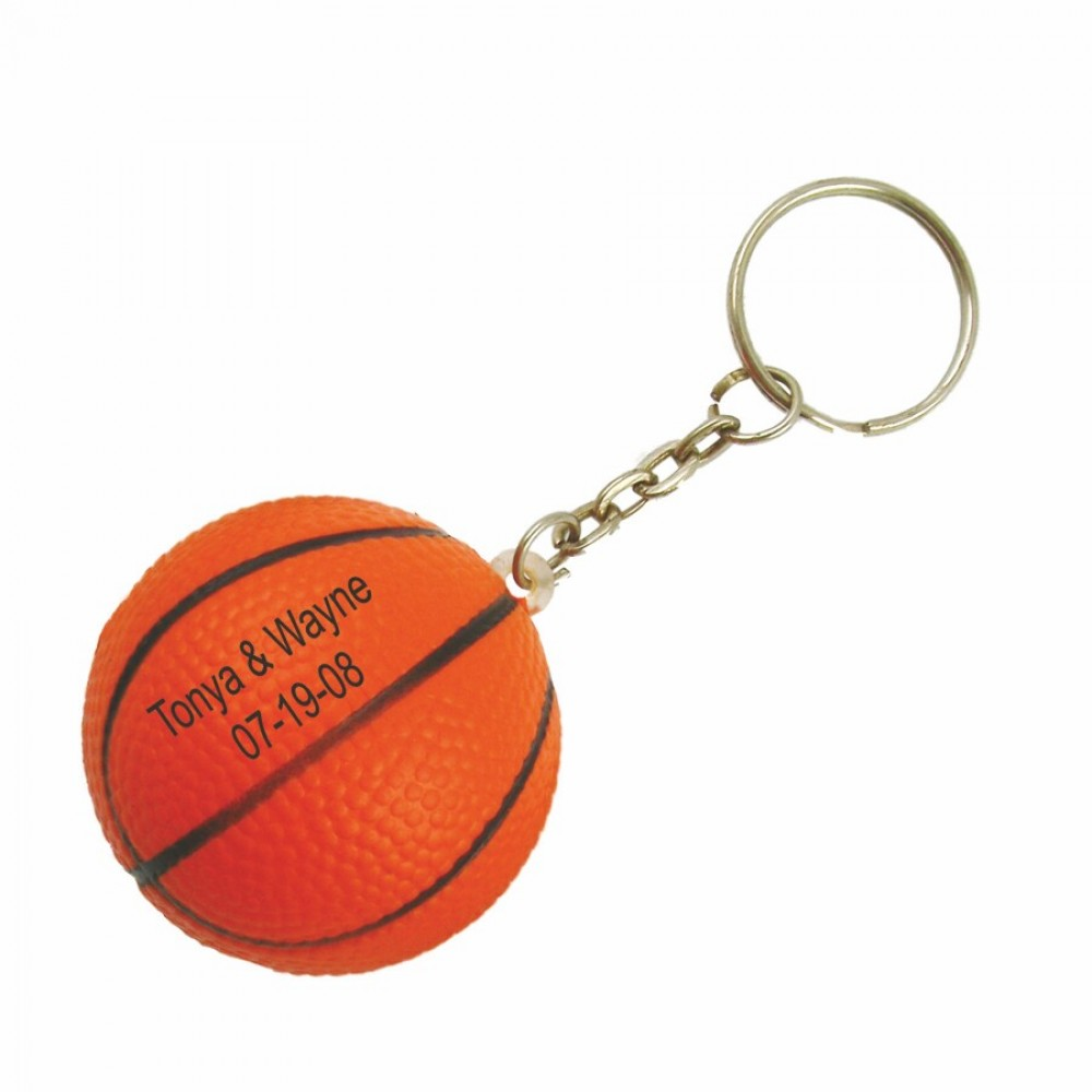 Logo Branded Basketball Stress Reliever Key Chain-close out
