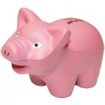 Pink Pig Stress Reliever Custom Printed