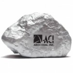 Custom Imprinted Silver Ore Stress Reliever
