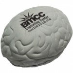 Custom Imprinted Gray Brain Stress Reliever