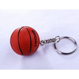 Custom Imprinted Basketball Stress Ball Key Chain