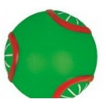 Rubber Round Ball Dog Toy© (Green/ Red) Logo Branded
