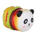 Logo Branded Slow Rising Scented Panda Burger Squishy