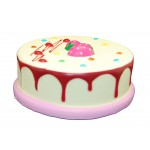 Slow Rising Scented Strawberry Birthday Cake Squishy Custom Imprinted