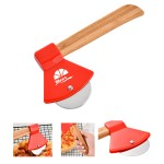 Logo Branded Pizza Cutters With Bamboo Handles