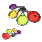 Promotional 4-piece Set Collapsible Measuring Cups