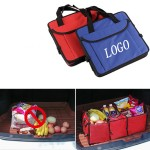 Logo Branded Foldable Trunk Organizer w/Cooler Bag
