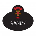 "Name Badge, Full Color w/Personalization (2.5x3"") Rectangle w/Oval bump Logo Imprinted"