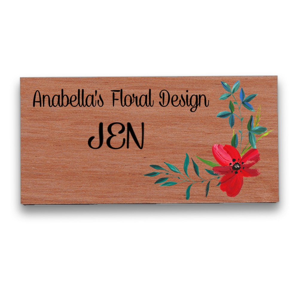 Full-Color Wood Badge Custom Imprinted