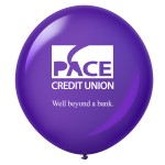 Customized Custom Printed Latex Balloons - 36'' Round - Crystal Colors
