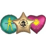 """Logo Branded 17"""" Star Helium Saver XtraLife Foil Balloons"""