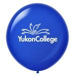 Logo Branded Custom Printed Latex Balloons - 17'' Round - Crystal Colors