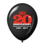 Customized 12'' 2-Color Imprint Custom Latex Balloons - Standard Colors