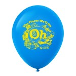 """Personalized 10"""" Custom Printed Latex Balloons - Standard Colors"""