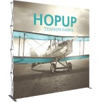 Custom Printed Hopup 10ft Full Height Straight Display & Front Graphic