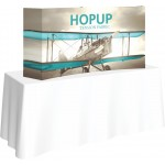 Custom Printed Hopup 5.5ft Curved Tabletop Display & Full Fitted Graphics