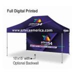 Commercial Vinyl Canopy Outdoor Pop Up Tent - Full Color Digital (10'x15') Logo Branded